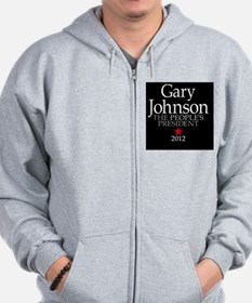 2-25x2-25_button_gary_johnson_03 Zip Hoodie