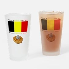 belgian_colors_tee Drinking Glass