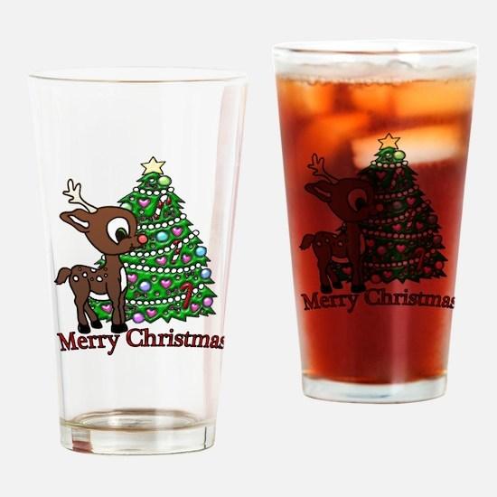Merry Christmas (baby Deer) Drinking Glass