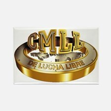 CMLL gold Rectangle Magnet