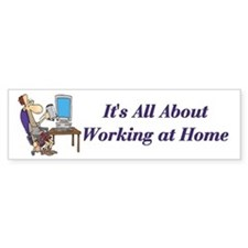 Home Based Business Self Employed Bumper Car Sticker