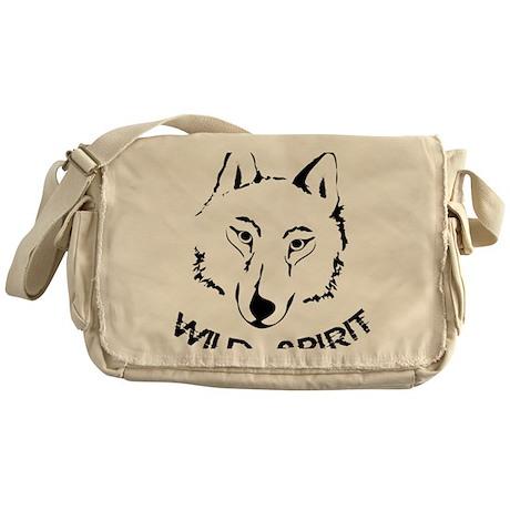 Wolf wild spirit black Messenger Bag