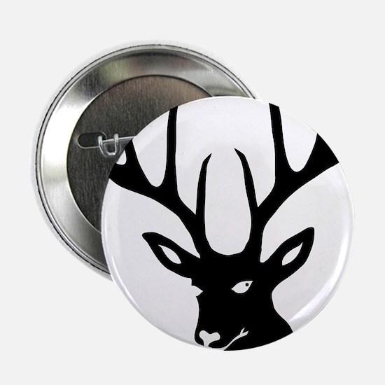 """stag deer antler antlers hunter 2.25"""" Button"""