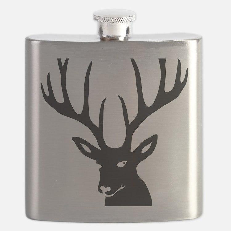 stag deer antler antlers hunter Flask