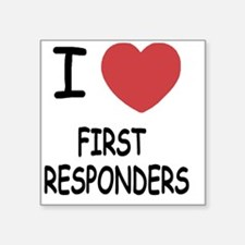 """FIRST_RESPONDERS Square Sticker 3"""" x 3"""""""