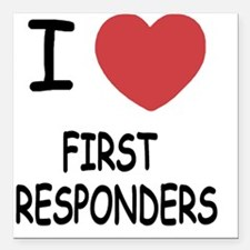 "FIRST_RESPONDERS Square Car Magnet 3"" x 3"""