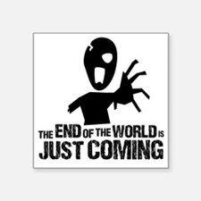 """Stephen end of the world zo Square Sticker 3"""" x 3"""""""