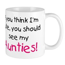 think im cute aunties pink Mug