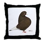 Brown Flight Throw Pillow