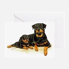 Rott  Pup Greeting Card