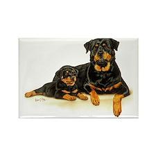 Rott  Pup Rectangle Magnet