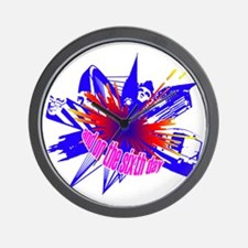 Manchester Outline blue Wall Clock