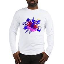 Manchester Outline blue Long Sleeve T-Shirt