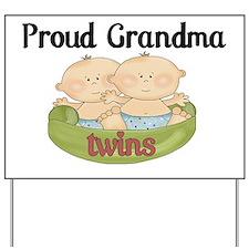grandma twins Yard Sign