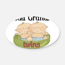 grandma twins Oval Car Magnet