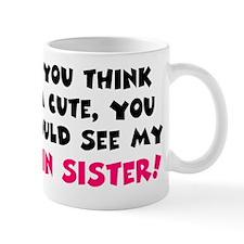 twin sister cute Mug