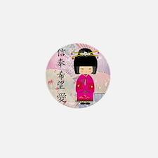 Dezine01_Geisha Faith-Hope-Love Mini Button