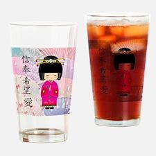 Dezine01_Geisha Faith-Hope-Love Drinking Glass