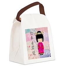 Dezine01_Geisha Faith-Hope-Love Canvas Lunch Bag