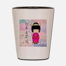 Dezine01_Geisha Faith-Hope-Love Shot Glass