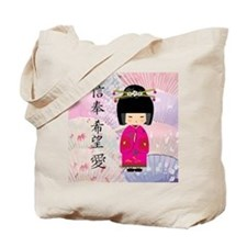Dezine01_Geisha Faith-Hope-Love Tote Bag