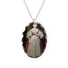 Ada_Lovelace Necklace Oval Charm