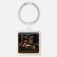Cleopatra in Recline Square Keychain