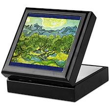 Van Gogh olive trees Keepsake Box