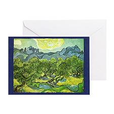 Van Gogh olive trees Greeting Card
