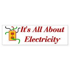 Electrician Bumper Car Sticker