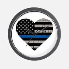 Shop Thin Blue Line Wall Clock