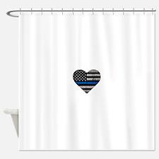 Shop Thin Blue Line Shower Curtain