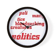 politicsDrk Wall Clock