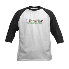 Librarian Kids Baseball Jersey