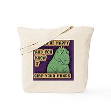t-rex-clap-BUT Tote Bag