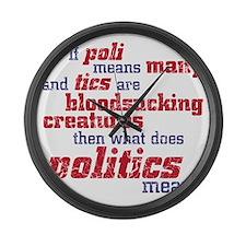 politics Large Wall Clock