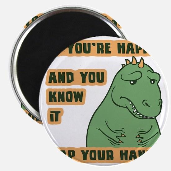 t-rex-clap-T Magnet