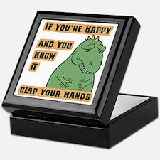 t-rex-clap-T Keepsake Box