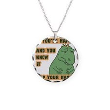 t-rex-clap-T Necklace