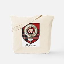 McFarlane Clan Crest Tartan Tote Bag
