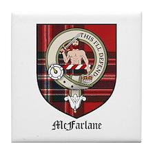 McFarlane Clan Crest Tartan Tile Coaster