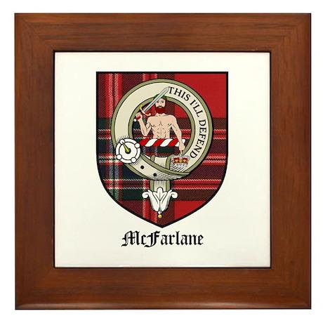 McFarlane Clan Crest Tartan Framed Tile