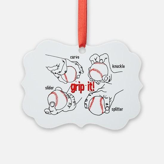 GripItBaseballNoteC. Ornament