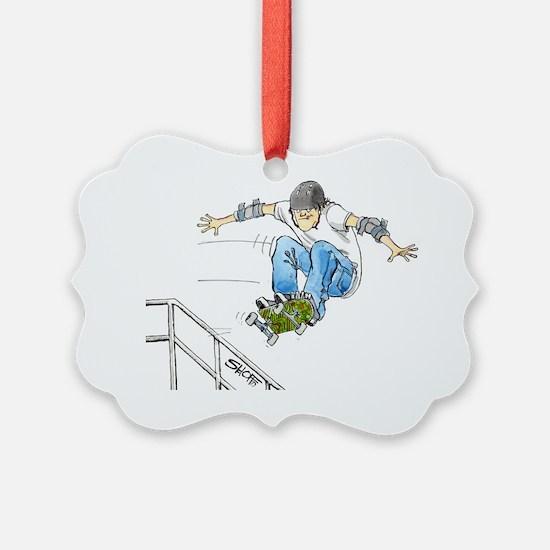 SkaterFlyNoteC Ornament