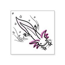 "axolotl Square Sticker 3"" x 3"""