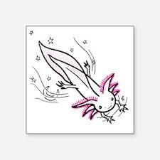 """axolotl Square Sticker 3"""" x 3"""""""