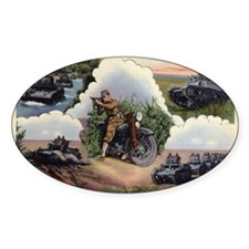 WWII - US - tanks and bike w Tho Decal