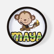 maya-monkey Wall Clock
