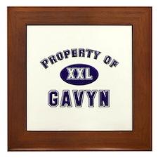 Property of gavyn Framed Tile