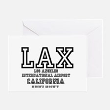 AIRPORT CODES - LAX - LOS ANGELES, C Greeting Card